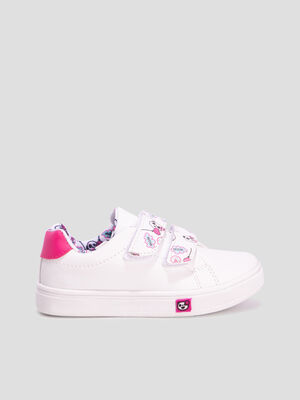 Baskets tennis blanc fille