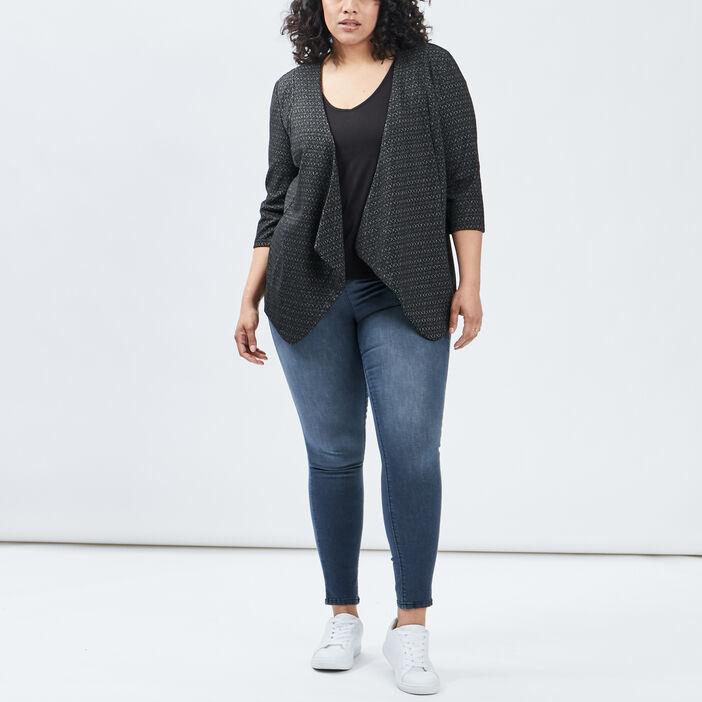 T-shirt manches courtes femme grande taille noir