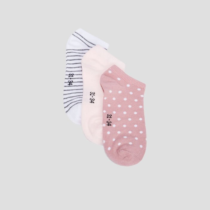 Chaussettes fille rose