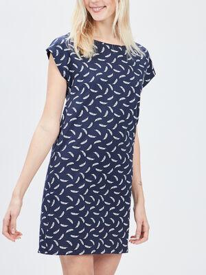 Chemise de nuit bleu marine femme