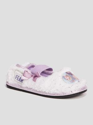 Chaussons La Reine des neiges violet fille
