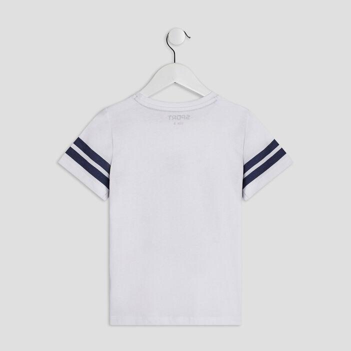 T-shirt manches courtes garçon blanc