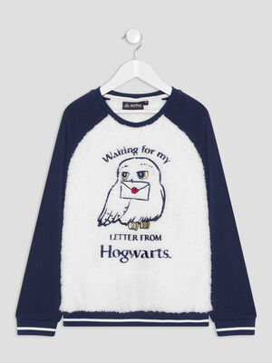 Pull Harry Potter bleu marine fille