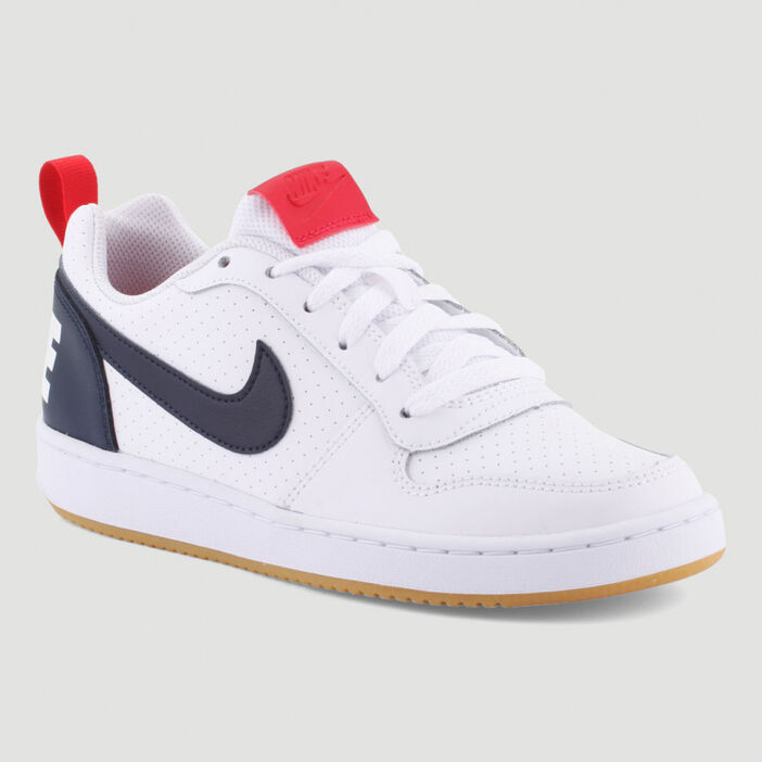 Tennis Nike COURT BOROUGH LOW garçon blanc