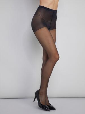 Collant Body Touch Voile transparent noir femme