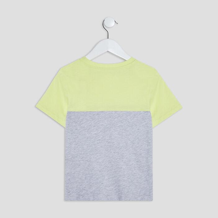 T-shirt manches courtes garçon vert anis
