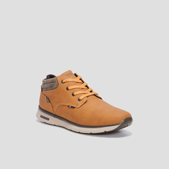 Bottines plates Creeks homme jaune