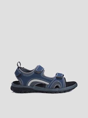 Sandales plates sport bleu homme