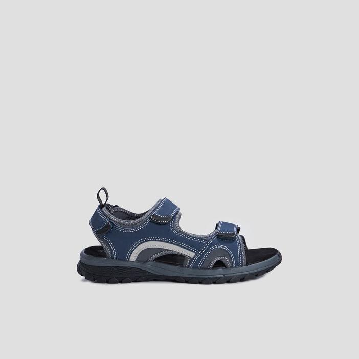 Sandales plates sport homme bleu