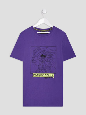 T shirt Dragon Ball Z violet garcon
