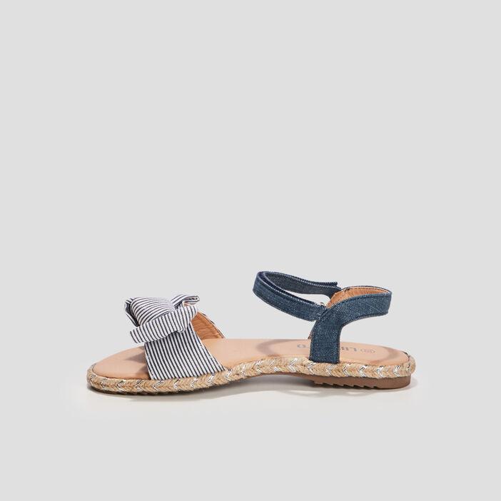 Sandales à noeuds Liberto fille bleu