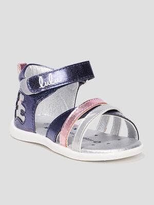 Sandales LuluCastagnette bleu bebef