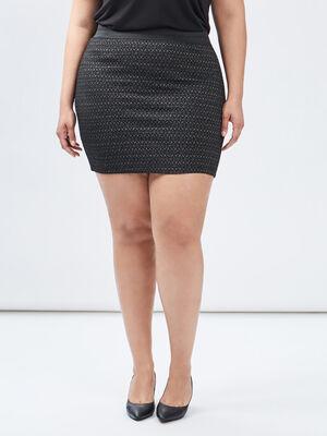 Jupe ajustee taille haute noir femmegt