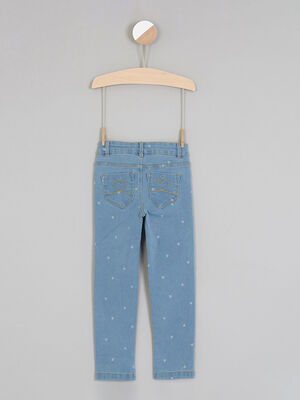 Jean imprime coupe skinny denim double stone fille