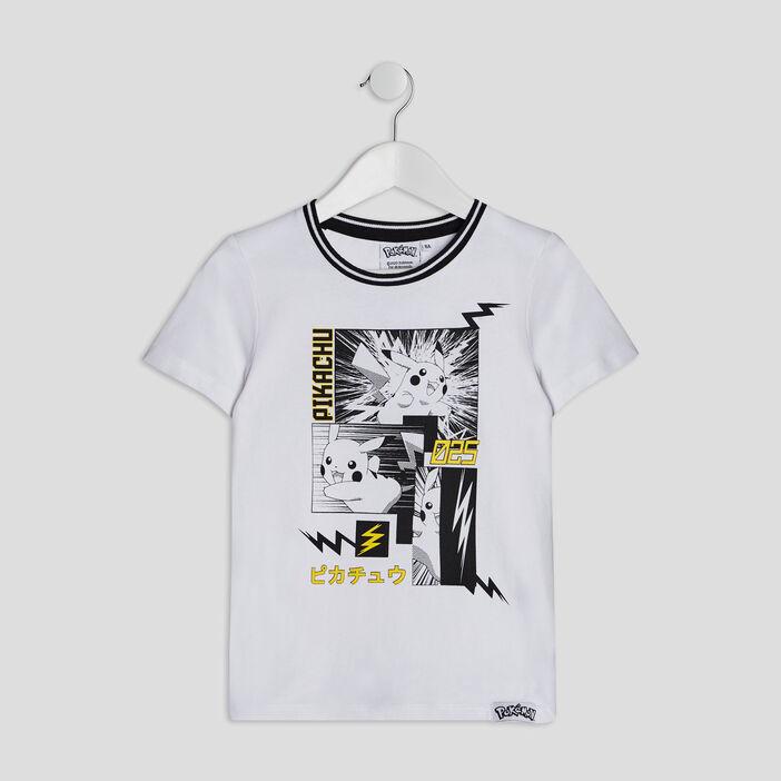 T-shirt Pokémon garçon blanc