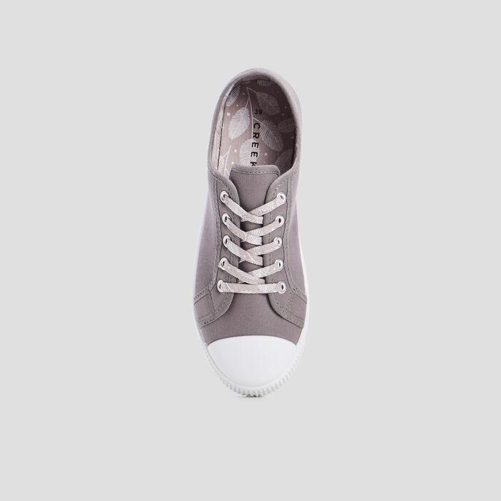 Tennis en toile à lacets femme gris