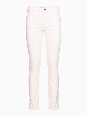 Pantalon skinny uni rose clair femme
