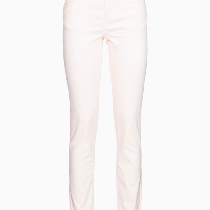Pantalon skinny uni femme rose clair