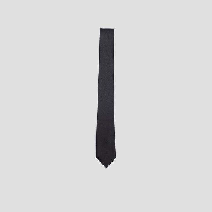 Cravate texturée  noir