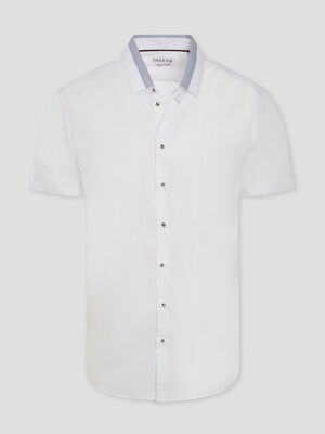 Chemise manches courtes Creeks blanc homme