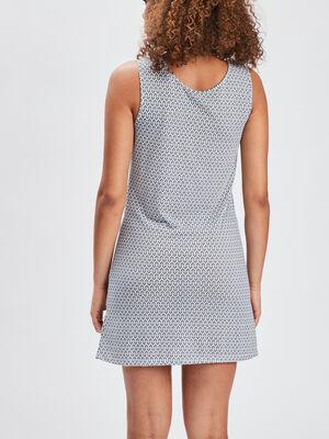 Chemise de nuit sans manches bleu marine femme