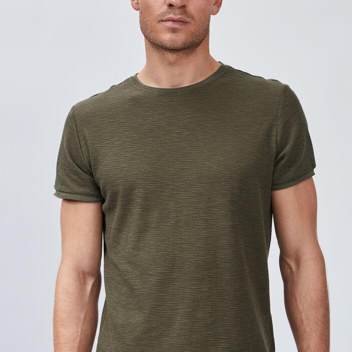 T-shirt Trappeur homme vert kaki