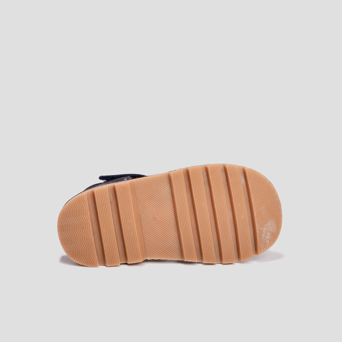 Sandales crantées en cuir garçon bleu