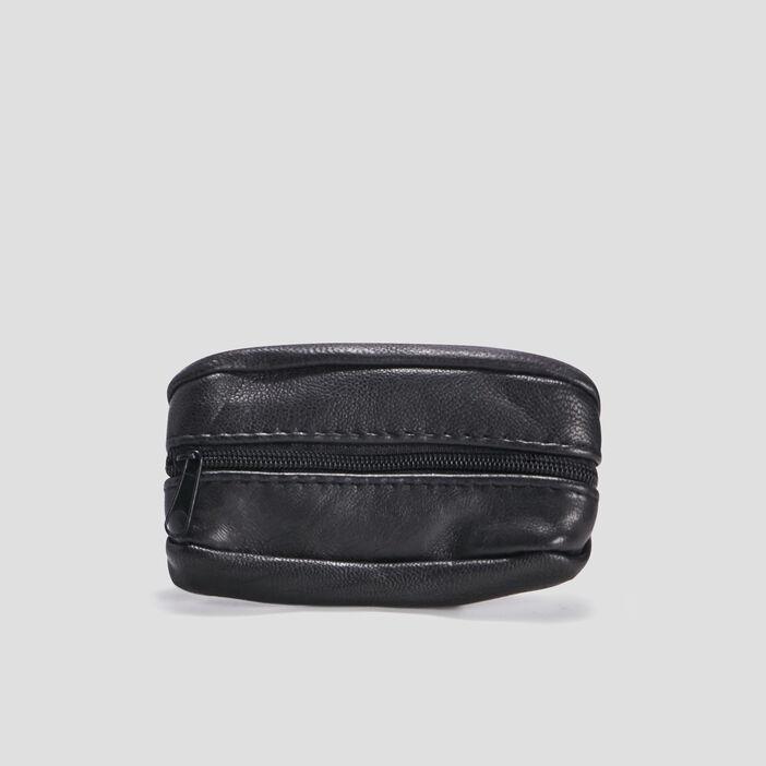 Porte-monnaie en cuir homme noir