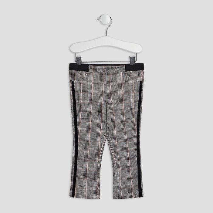 Pantalon droit bébé fille gris