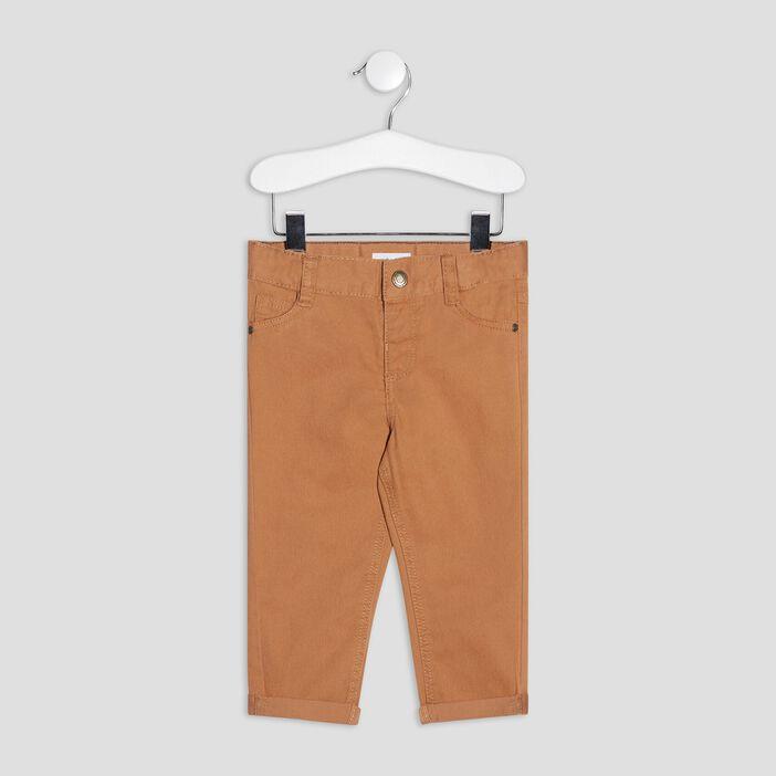 Pantalon droit bébé garçon marron