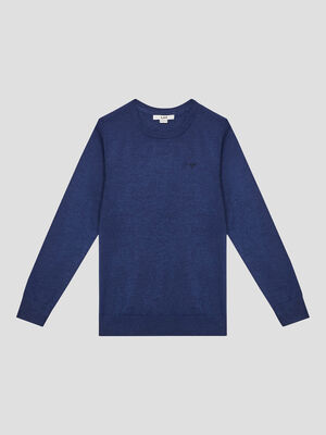 Pull manches longues bleu garcon