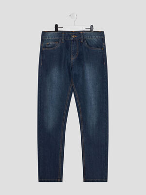 Jeans straight denim stone garcon