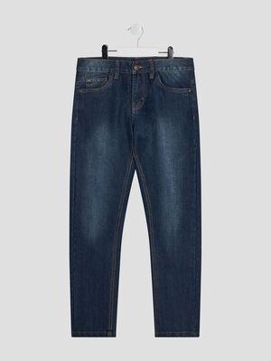 Jeans straight denim stone garcon