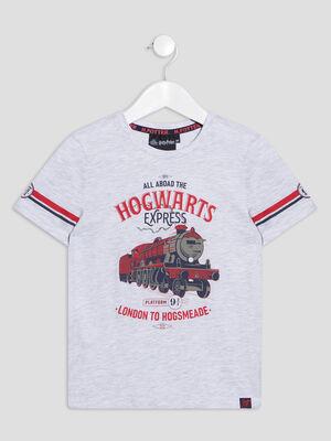 T shirt Harry Potter gris clair garcon