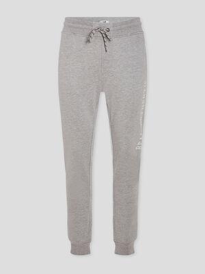 Pantalon de jogging droit gris homme