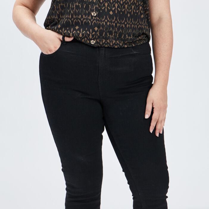 Jeans bootcut femme grande taille noir