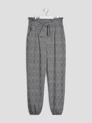 Pantalon cargo avec noeud gris fonce fille