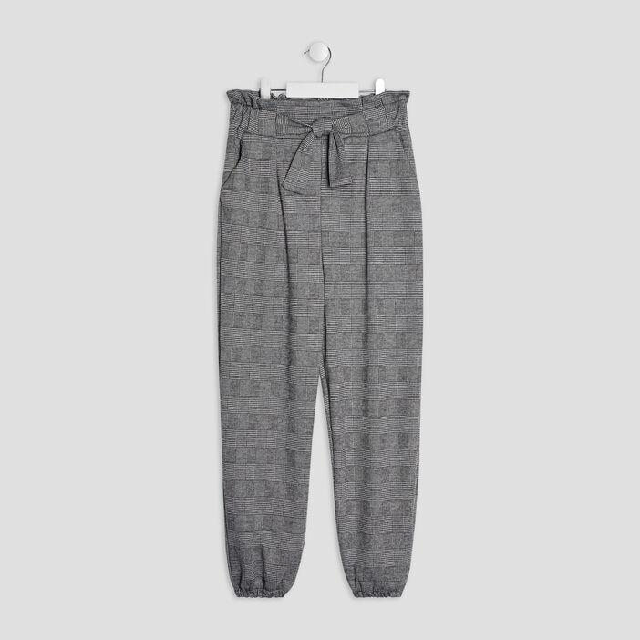 Pantalon cargo avec noeud fille gris foncé