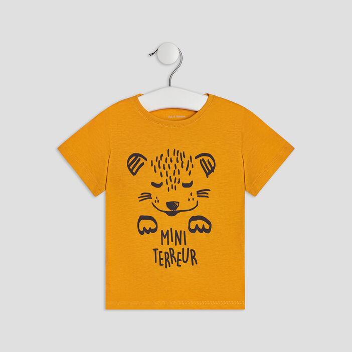 T-shirt manches courtes bébé garçon jaune
