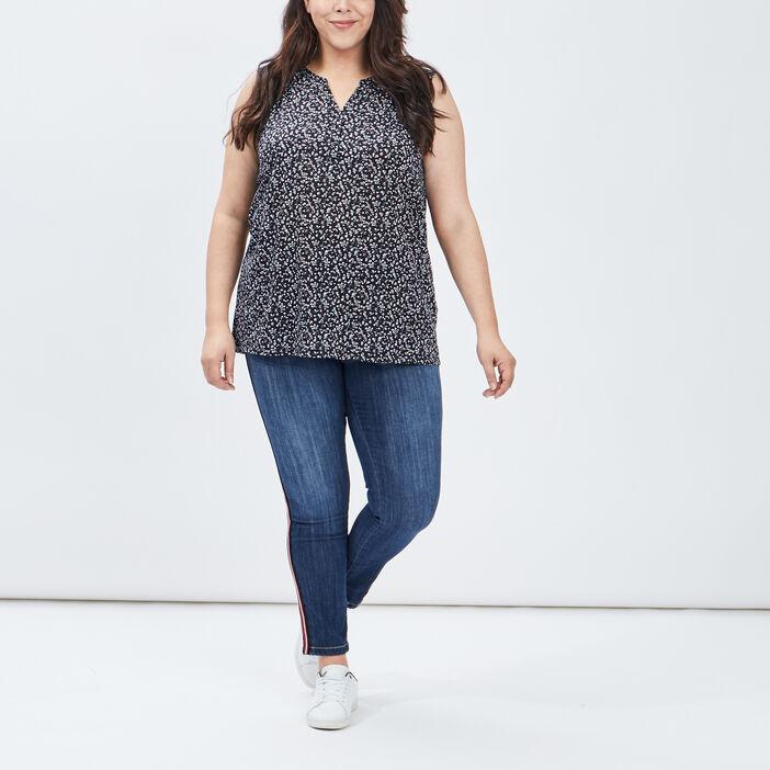 Jeans skinny femme grande taille denim stone