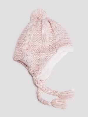 Bonnet peruvien rose fille