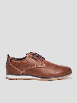 Derbies a lacets marron garcon