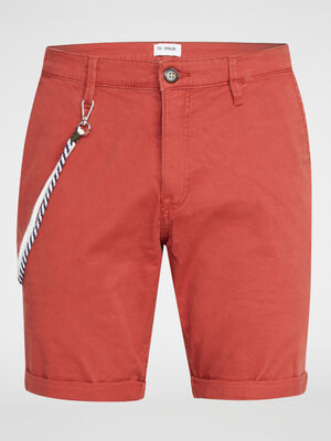 Bermuda regular Trappeur orange fonce homme