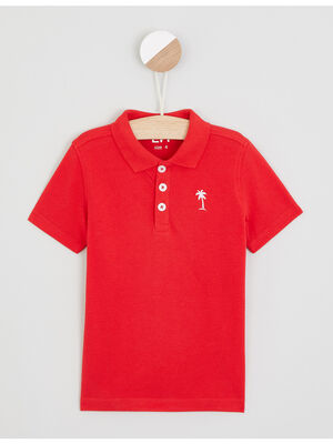 Polo manches courtes rouge garcon
