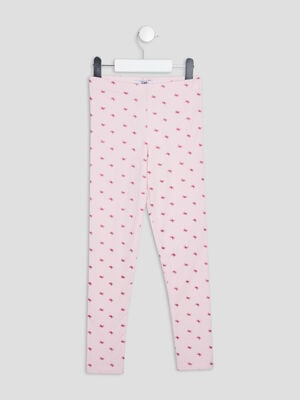 Leggings rose clair fille