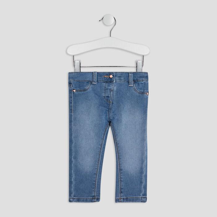Jeans slim bébé fille denim stone