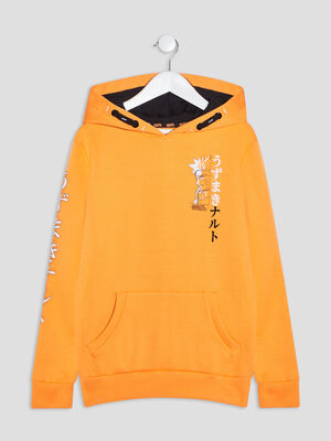 Sweat a capuche Naruto orange garcon