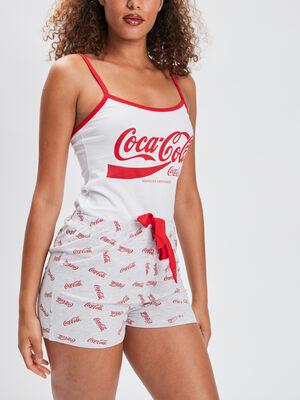 Ensemble pyjama Coca Cola rouge femme