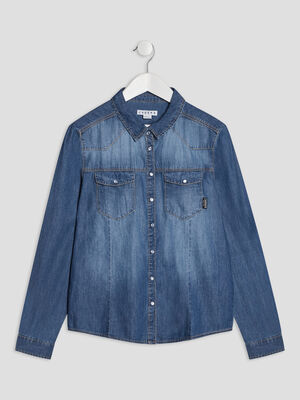 Chemise en jean Creeks denim double stone fille