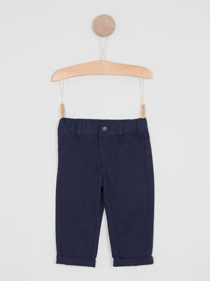 Pantalon uni forme chino bleu marine garcon